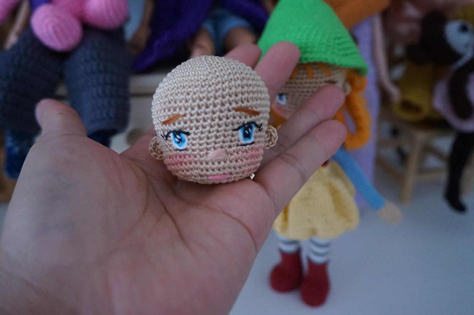 Crochet Doll. A Cute Teddy Bear Amigurumi Doll With Bow On Her ... | 1065x1600