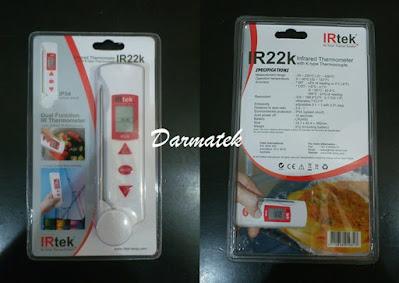 Darmatek Jual Thermo Fever IRTEK IR22K Thermometer w/ Thermocouple Type K [IR-22K]