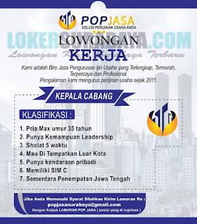 Lowongan Kerja di Pop Jasa (Solusi Perijinan Usaha Anda) Surabaya Terbaru Mei 2019