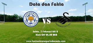 Data dan Fakta Fantasy Premier League GW 26 Leicester City vs Swansea Fantasy Premier League
