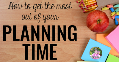 "School supplies with text, ""How to get the most out of your planning time."""