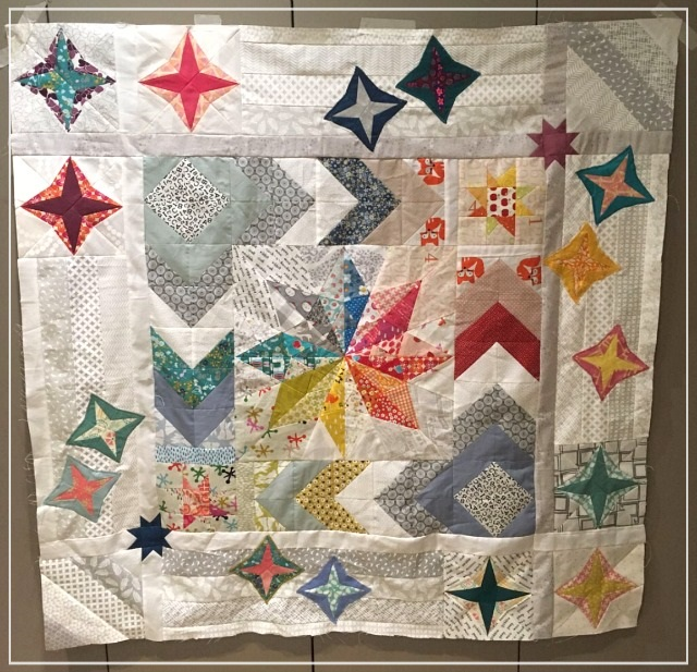 Puppilalla, Round Robin Quilt, Star Quilt, The Rakish Needle, Modern Quilting