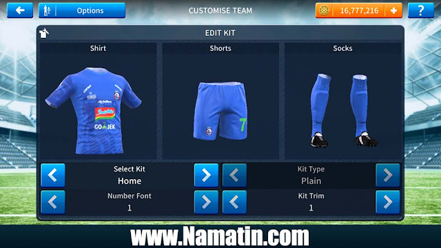 Kostum Dream League Soccer Arema