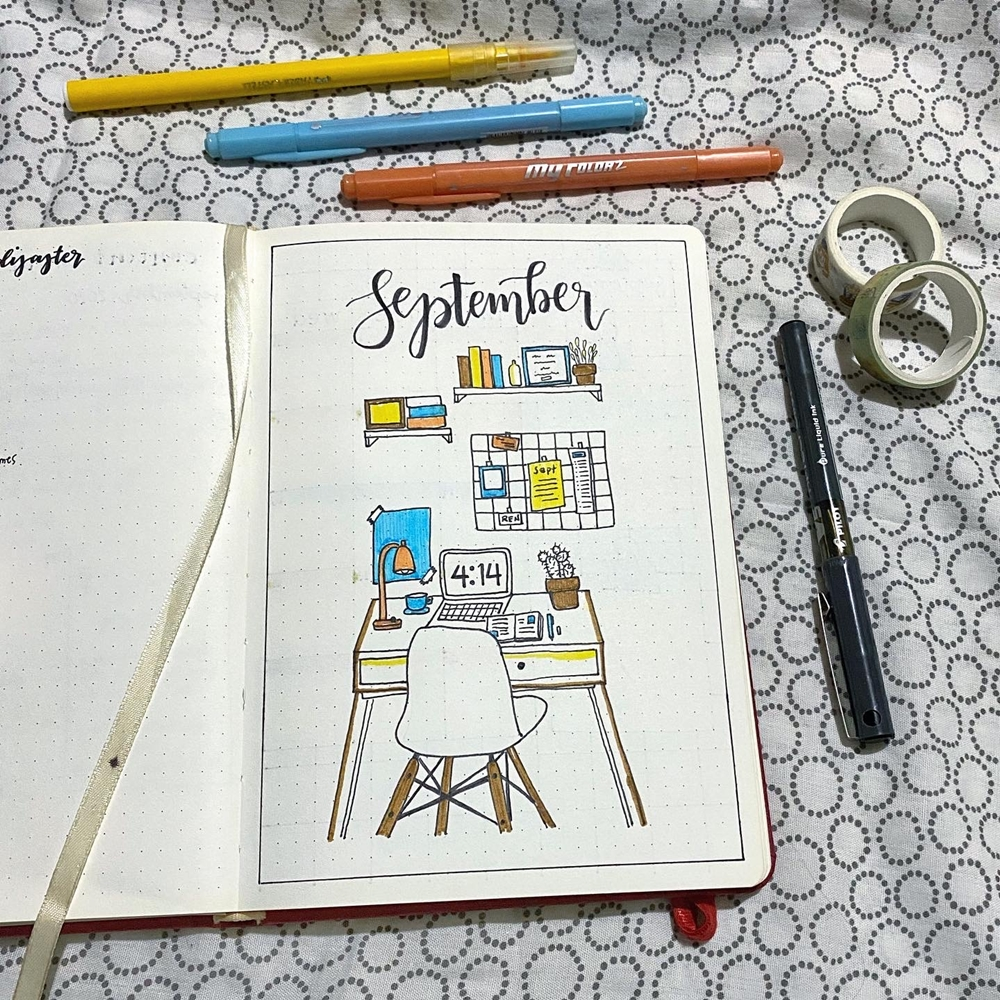 September 2020 Bullet Journal Spread | Renee Alexis