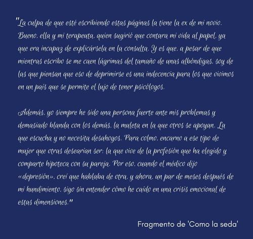 Fragmento de la novela Como la seda, de Sonsoles Fuentes