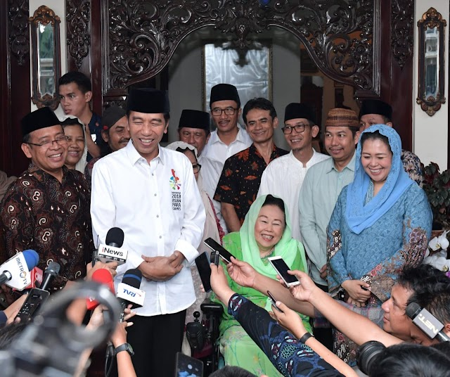 Presiden Silaturahmi Ke Kediaman Ibu Sinta Nuriyah Wahid