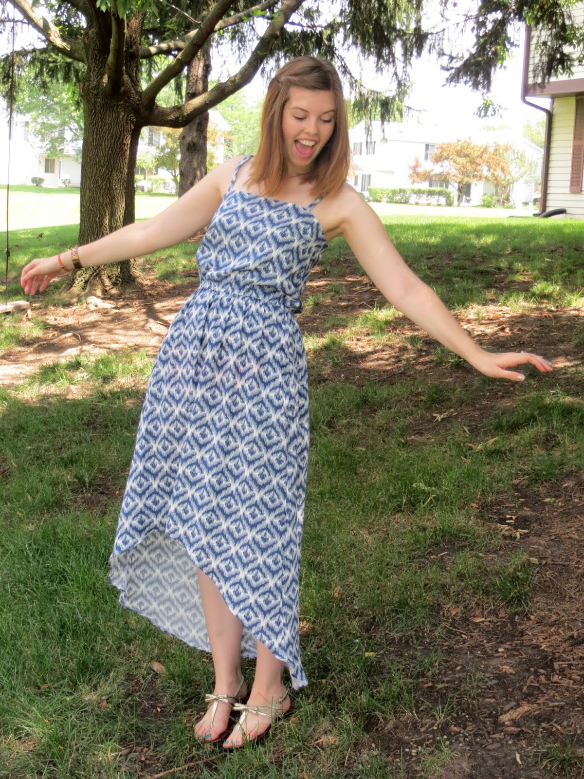 The Quirky Peach Summery Ikat Dress