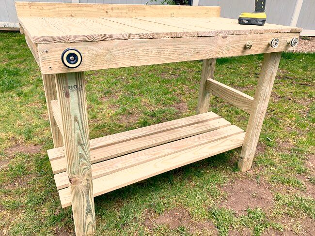 Weekend warrior project - DIY potting bench