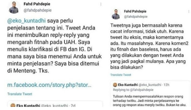 Diajak Ketemuan Klarifikasi setelah Fitnah UAH, Eko Kuntadhi Ngacir