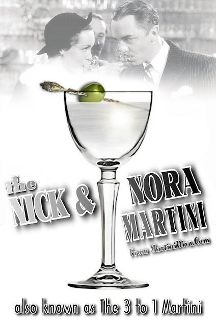 Nick & Nora Martini aka the 3 to 1 Martini