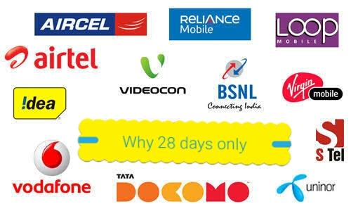 Why 1 Month Prepaid Mobile Recharge Of Only 28 Days (मोबाइल प्रीपेड रिचार्ज प्लान केवल 28 दिनों के लिए क्यों होता है?) - By Pure Gyan