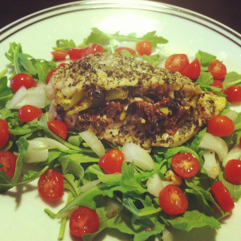 Mediterranean Style Chicken Recipe: Mediterranean Stuffed Chicken