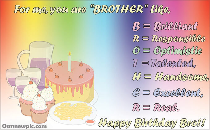 Happy Birthday Quotes for Brother On Facebook