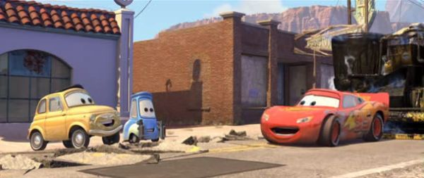 Luigi, Guido and Lightning McQueen