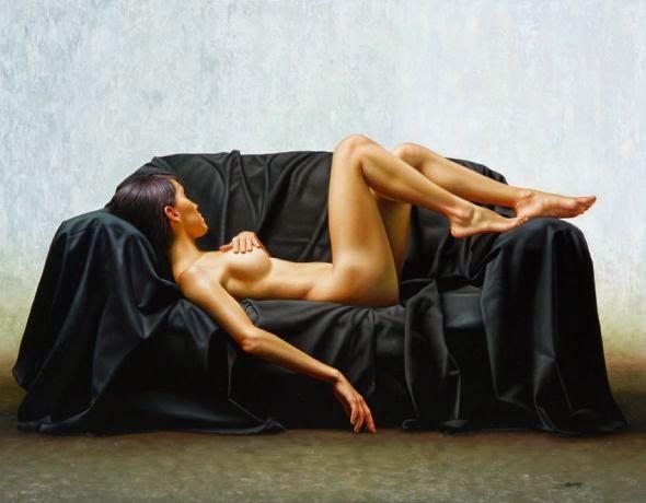 Introspectiva - Omar Ortiz | Pintura Sensual Hiper-Realista  - Mexicano