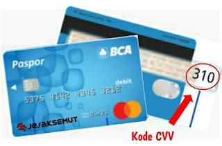 Kode CVV Kartu BCA MasterCard
