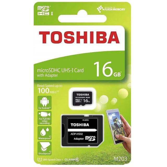8. Toshiba M203 microSD