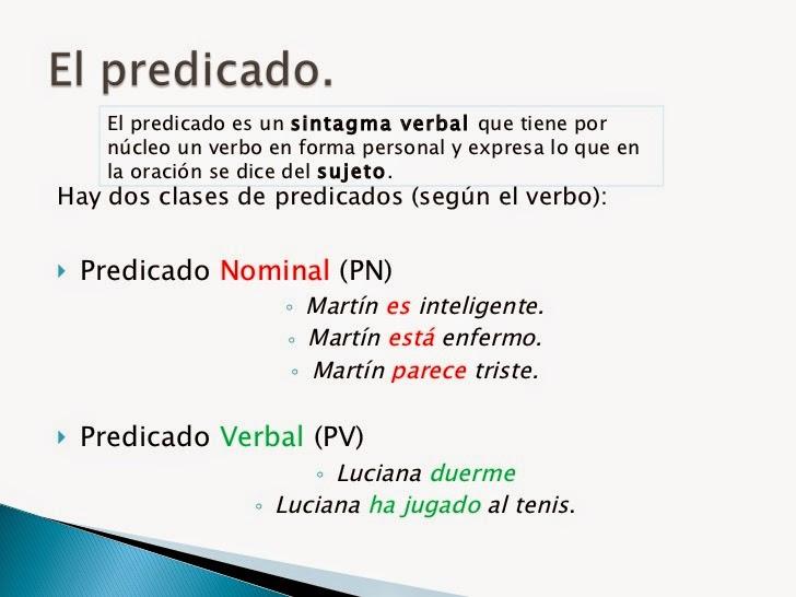 b46cb76aa689 TIPOS DE PREDICADO. CLASES DE PREDICADO