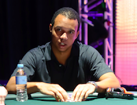 Phil Ivey in the $100,000 Challenge at the 2012 Aussie Millions