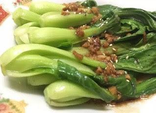 resep makanan pokcoy bawang putih ala restoran enak