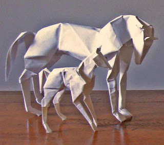 Decorative 3D horse Origami