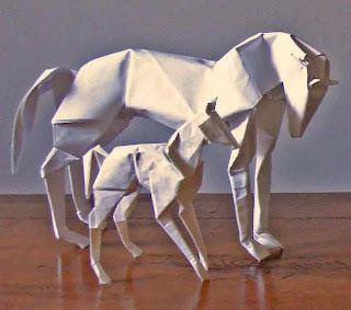 Decorative 3D horse Origami