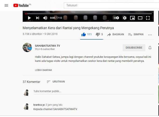 Ijin Copyright/Pemakaian Ulang Video @SAHABATSATWA TV