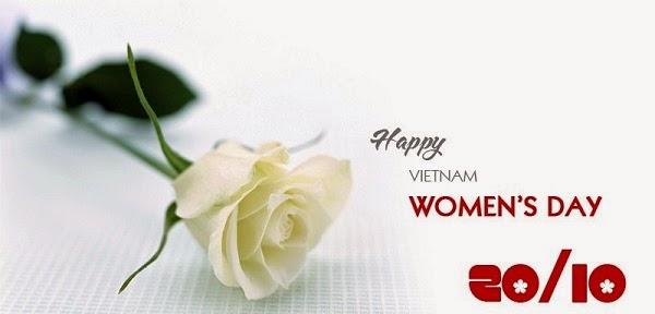 Thiệp hoa 20/10 dành tặng chị em phụ nữ nhân ngày Phụ nữ VN