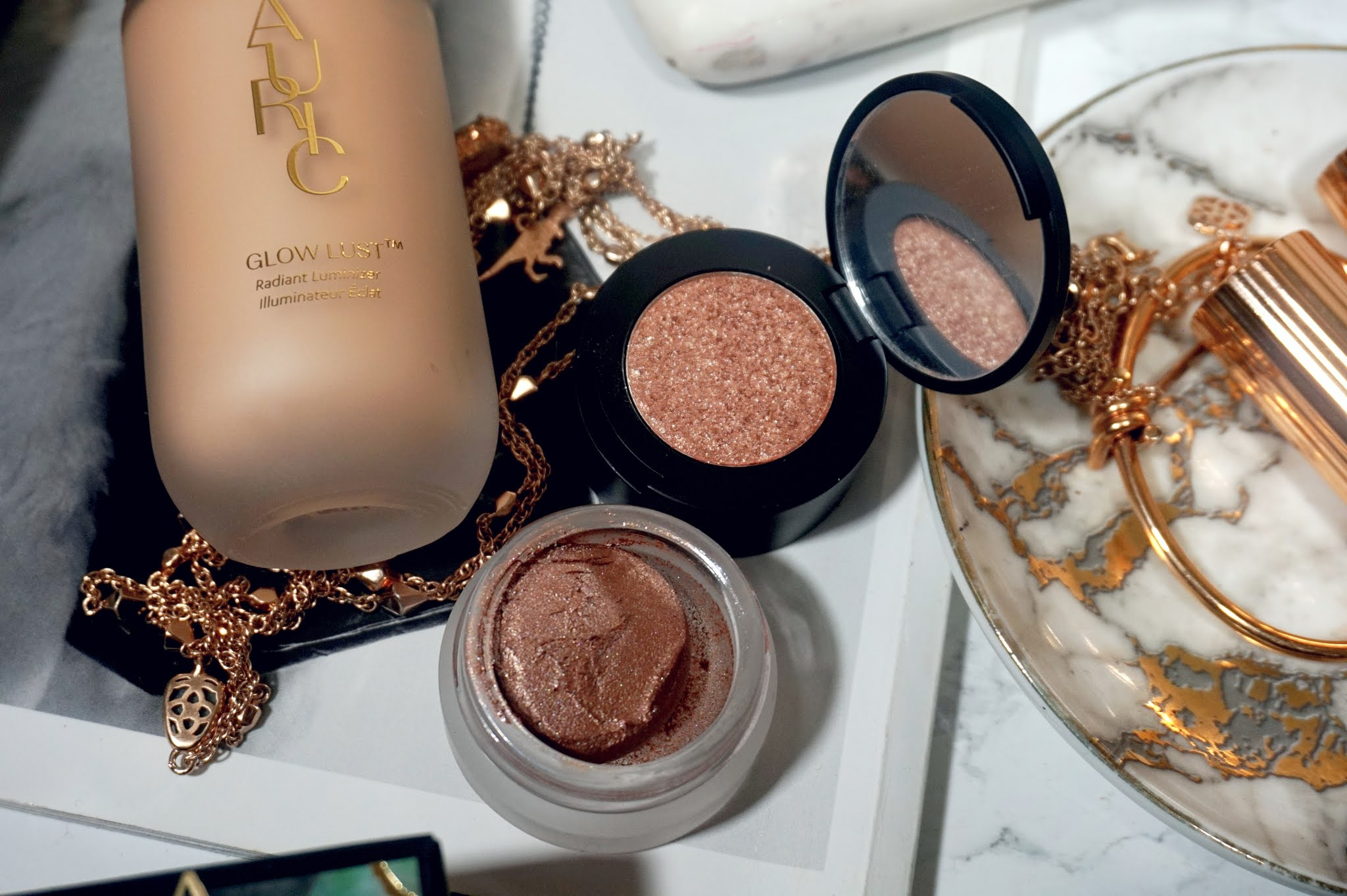 AURIC Cosmetics Smoke Reflect Cream + Powder Eye Shadow Duo Review and Swatches
