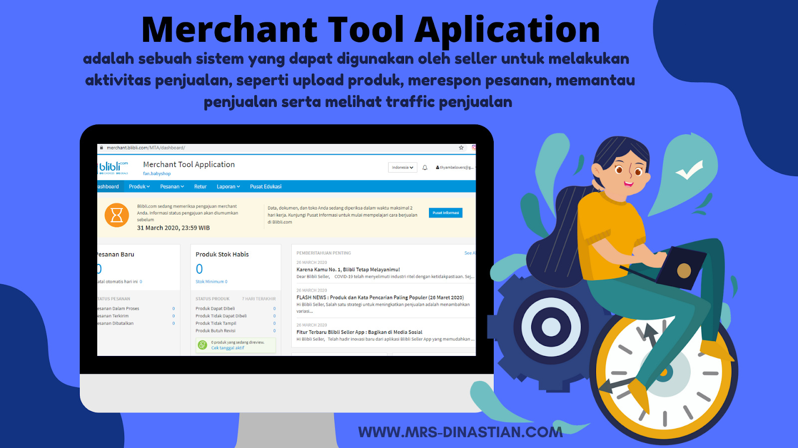 Merchant Tool Aplication (MTA) Blibli