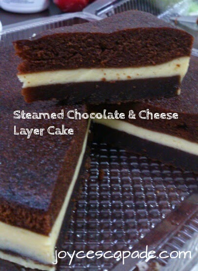 Steamed Chocolate Amp Cheese Layer Cake By My Mother In Law