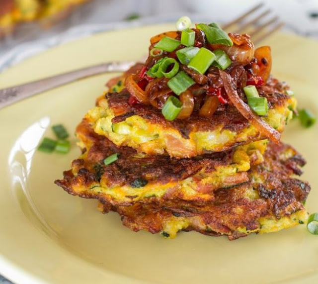 Bacon Zucchini Fritters #healthy #paleo