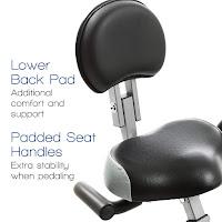 Xterra Fitness FB350 Exercise Bike's oversized seat with backrest, image