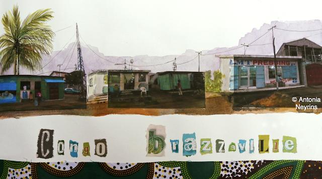 carnets de voyage Antonia Neyrins Congo Brazzaville formation bibliothécaire médiathécaire BDP bibliothèque médiathèque institut français bibliothèque départementale de prêt fondation musée formatrice animation atelier écriture carnet voyage livre désherbé cabinet fabienne Aumont formateur formatrice