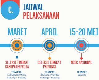 gambar jadwal kegiatan NSDC 2017