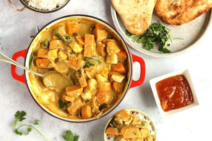 Halloumi and Sweet Potato Curry