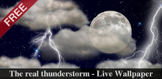 The real thunderstorm - Live Wallpaper