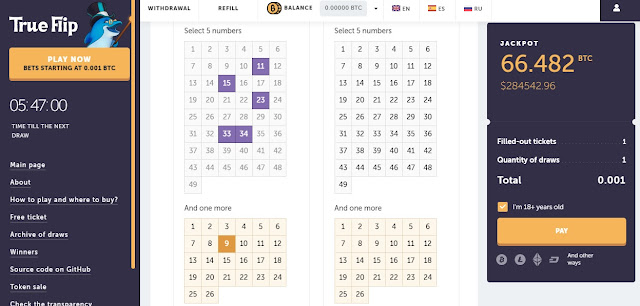 Bitcoin Loto Oyunu! (Bitcoin Şans Oyunları) Sayısal Loto Bitcoin ile Btc Kazanın..