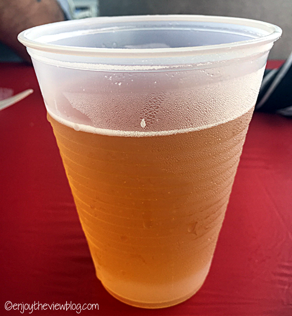 Summertrip beer from Braxton Brewing at the Newport Italian Festival along the Ohio River in Newport, Kentucky
