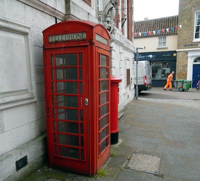 Designed by Sir Giles Gilbert Scott, the grade two listed phone box in Brigg Market Place - June 2019
