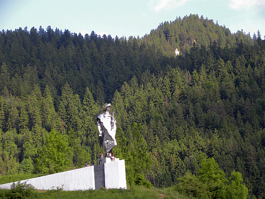 Pomnik Janosika w Terchowej (fot. E.Skrzyńska).