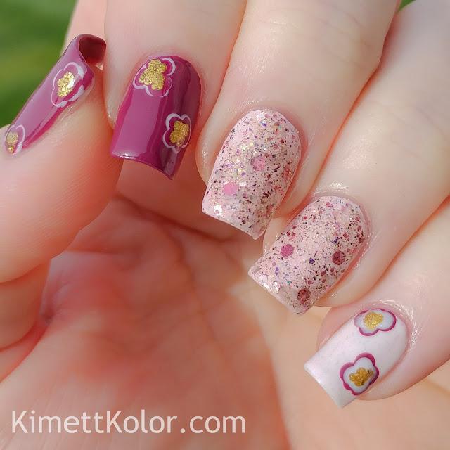 Kimett Kolor Nail Art Abstract Floral Spring Glitter