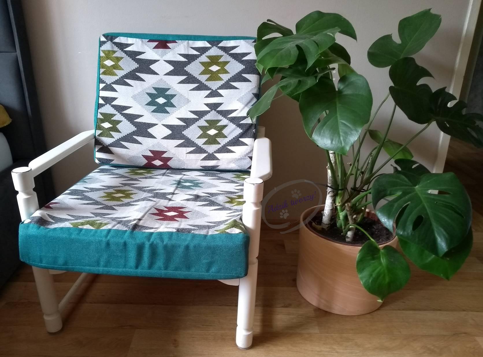 Renowacja fotela z czasów PRL