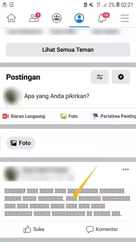Cara Membuat Tulisan Tebal di FB Tanpa Aplikasi