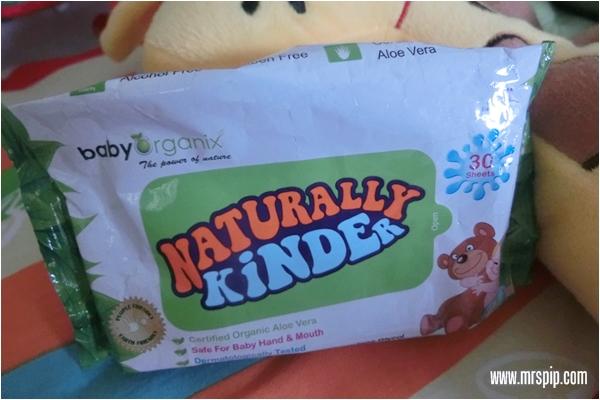 Naturally Kinder, tisu basah selamat untuk bayi