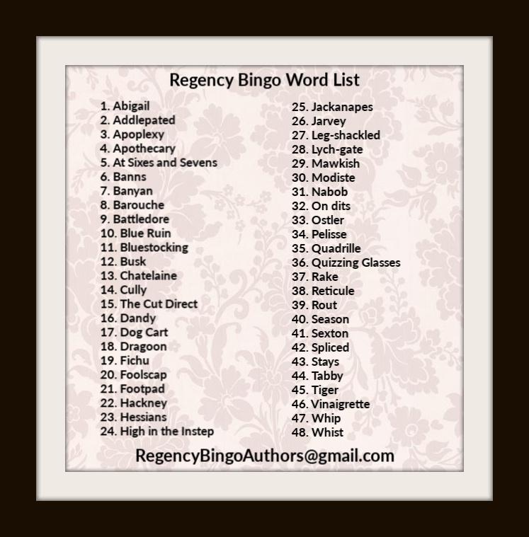 Regency Bingo