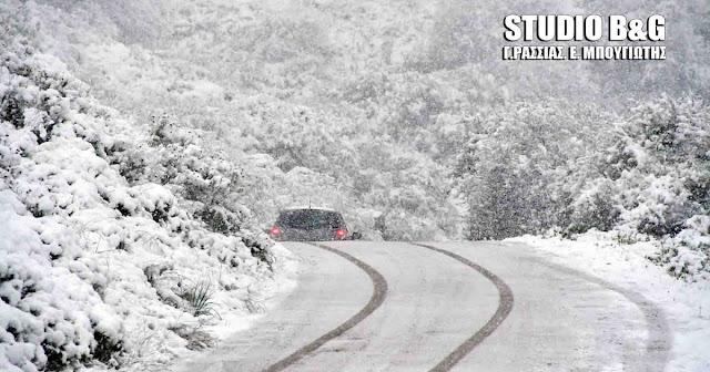 Πού έχει διακοπεί λόγω χιονοπτώσεων η κυκλοφορία των οχημάτων