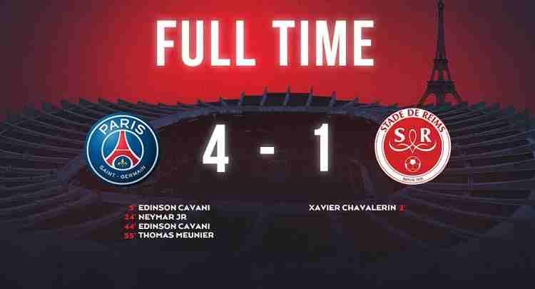 Hasil Paris Saint Germain vs Stade de Reims Skor Akhir 4-1