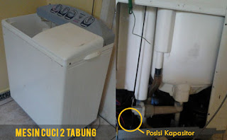 mesin cuci 2 tabung tidak mau berputar