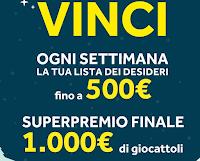 Logo Concorso '' Videoletterina a Babbo Nalate'' e vinci gratis la lista dei giocattoli fino a 500€